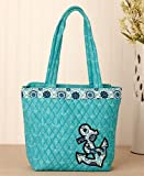Brand New Quilted Vibrant Color Tote Bag (Anchor)