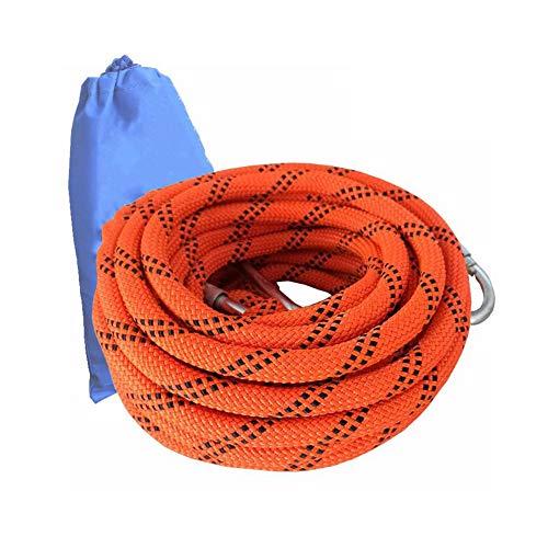 レモンバッフル上ロッククライミングロープ、安全丈夫ラペリング補助ロープ、脱出屋外レスキューロープ、ロープ着用ロープ安全ロープ (色 : オレンジ, サイズ : Diameter 10.5 mm/20M)