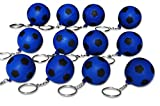 Novel Merk 12 Pack Blue Soccer Ball Keychains for Kids Party Favors & School Carnival Prizes