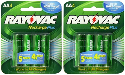 s AA 2400mAh NiMH Rechargeable Batteries 8 Pack ()