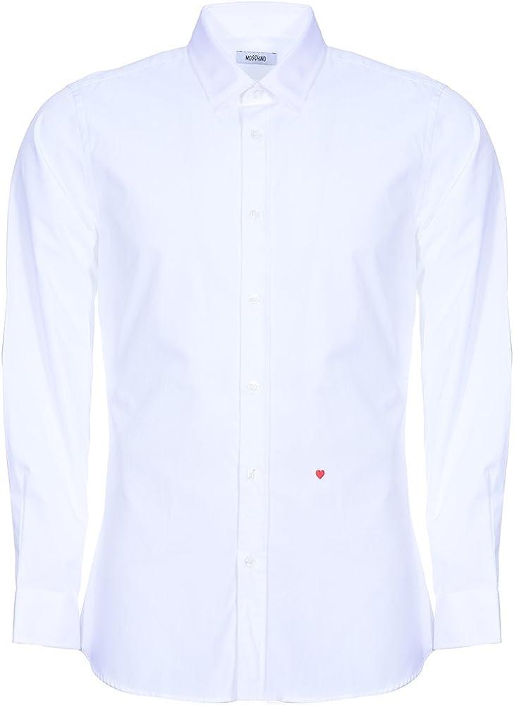 Moschino Formal - Camisas de manga larga para hombre, talla 39, 5 pulgadas, cuello: Amazon.es: Ropa y accesorios