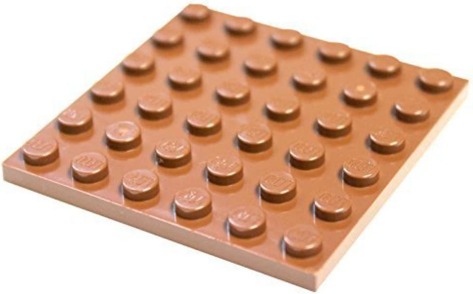LEGO Parts and Pieces: Reddish Brown 6x6 Plate x4