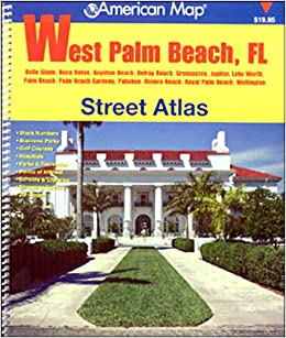 Map Of West Palm Beach Florida.American Map West Palm Beach Fl Street Atlas Alexandria Drafting