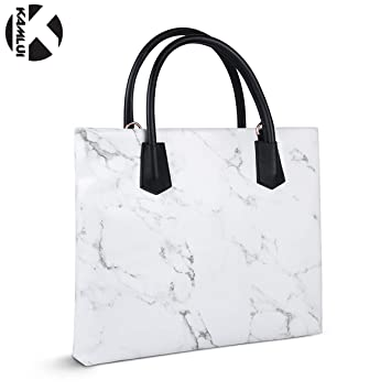 KAMLUI Laptop Bag 14 Inch for Women Marble Waterproof