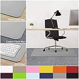 casa pura Office Chair Mats for Carpeted Floors - 30x48   Carpet Protector Floor Mat, Grey - BPA Free, Odorless   Matching Desk Mats Available