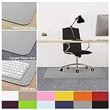 "casa pura Office Chair Mats for Carpeted Floors - 30""x48"" | Carpet Protector Floor Mat, Grey - BPA Free, Odorless | Matching Desk Mats Available"