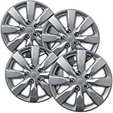 16 truck hub cap set - Hub-Caps for Select Toyota Corolla (Pack of 4) 16 Inch Silver Wheel Covers