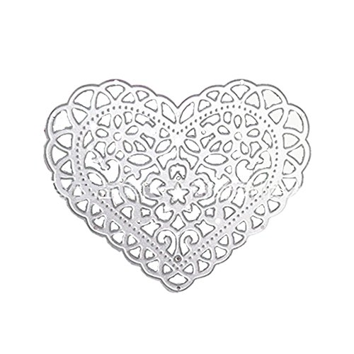 Heart Shape Scrapbooking Die Cuts Carbon Steel Stencil Metal Album Card Paper Craft Decoration DIY Template by Einfachheit (2) - Chipboard Die Cut Shapes