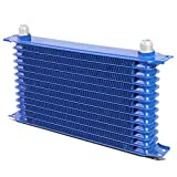 Universal Automotive Blue Aluminum 13-Row Engine & Transmission Oil Cooler