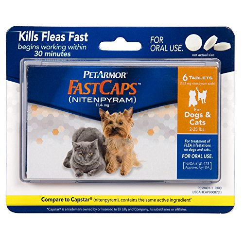 PetArmor FastCaps (nitenpyram) Oral Flea Control Medication, 2-25 lbs, 6 - Flea Cat Oral