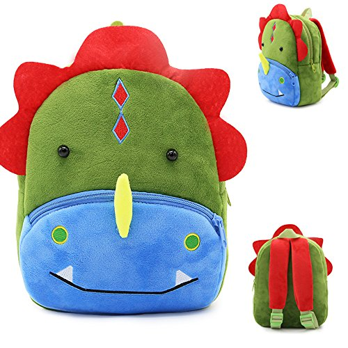 Cute Toddler Backpack,Cartoon Cute Animal Plush Backpack Toddler Mini School Bag for Kids Age 1-5 Years Old ()