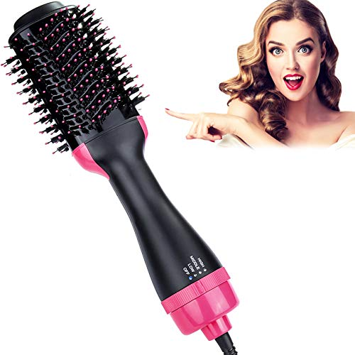 Blow Dryer Brush, Hieha Professional 4 in 1 One Step Hair Dryer and Styler Volumizer, Hot Air Hair Dryer Brush for Fast…