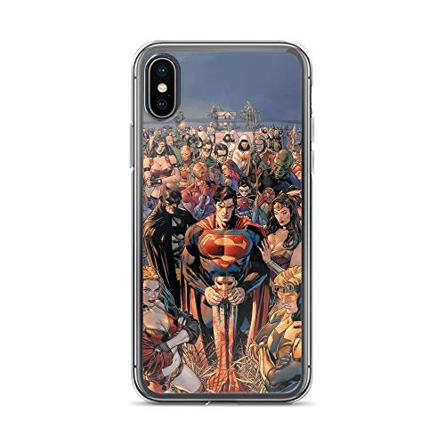 iPhone X/XS Pure Anti-Shock Clear Case DC World Superheroes Together