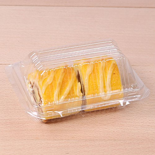 50/100 FBA Free Rectangular All Clear Dome Lid Carry-Out Cake Container (100)