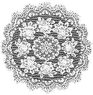 product image for Heritage Lace Rose 30-Inch Round Table Topper, Ecru
