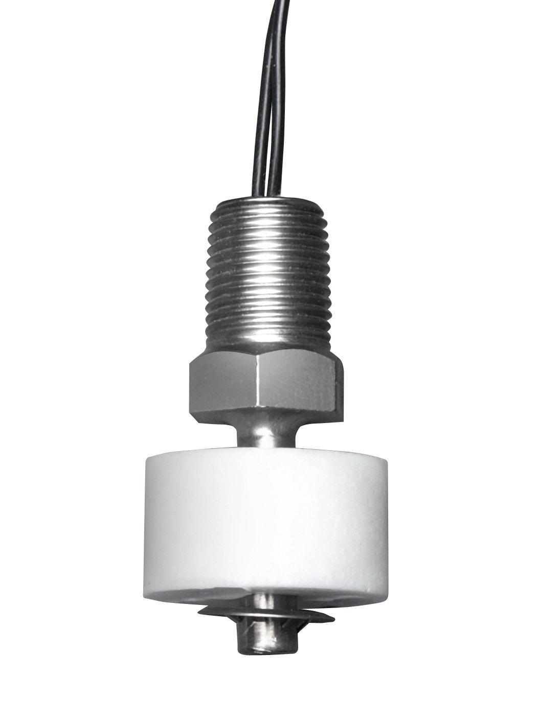 Madison M4035 Plastic Subminiature Liquid Level Float Switch with Vertical Mount, 15 VA SPST, 1/8'' NPT, 100 psig Pressure