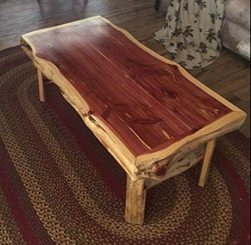 Handmade Cedar log frame Coffee Table