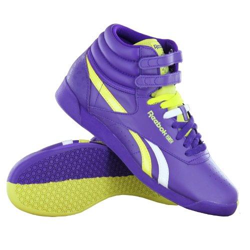 Reebok Dames Fs High Splitz Fashion Sneaker Ultra Viloet / Solar Groen / Wit