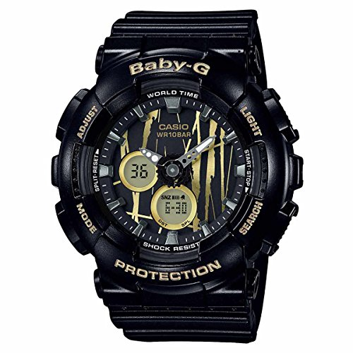 Casio Baby-G BA120SP-1A Scratch Pattern Black Analog Digital Watch Womens