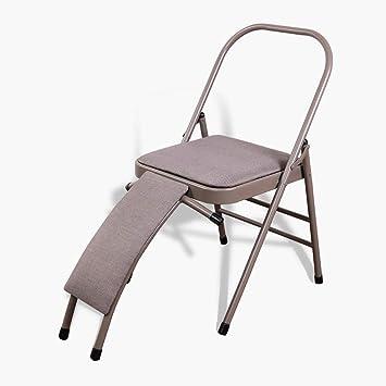 Amazon.com: DLT Iyengar Silla de yoga plegable con soporte ...