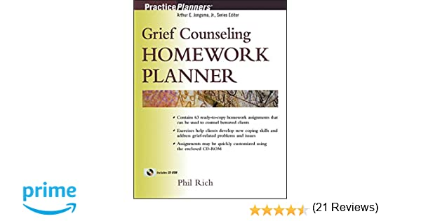 Amazon.com: Grief Counseling Homework Planner (9780471433187 ...