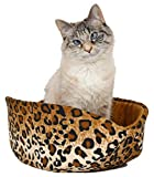 The Cat Canoe cat Bed in Leopard Fabric For Sale