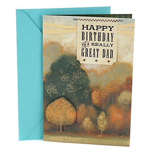 Hallmark Birthday Greeting Card for Father (Autumn Landscape)