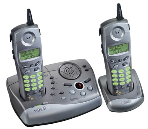 VTech ip5850 5.8 GHz DSS Cordless Phone with Dual Handsets and Digital Answering System