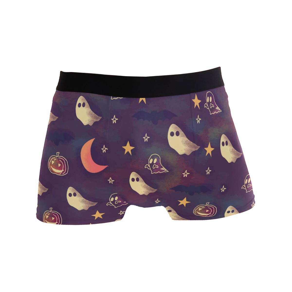 Cute Ghost Pattern Boxer Briefs for Men Mens Comfortable Underwear