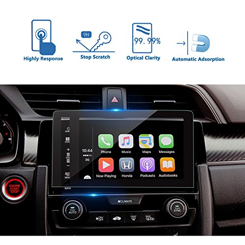 LFOTPP Honda Civic COUPE HATCHBACK 2016 2017 7 Inch Glass Navigation Screen Protector,Silk-Screen Printing Glass Protective Shield, MXO Compatible with the EX, EX-L, EX-T, and Touring
