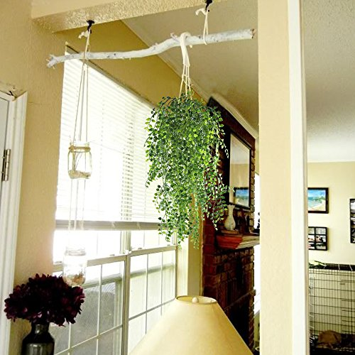 HOGADO-2pcs-Artificial-Ivy-Fake-Hanging-Vine-Plants-Decor-Plastic-Greenery-for-Home-Wall-Indoor-Outdside-Hanging-Basket