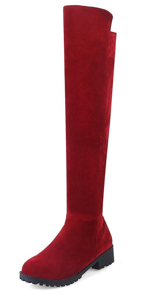 Easemax Rouge Femme Mode Mode Au Dessus 17099 Du Genou Petit Talon Bottes Rouge ccbb2bc - reprogrammed.space