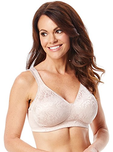 picture of Playtex Women's 18 Hour Ultimate Lift and Support Wirefree Bra, Sandshell, 44C