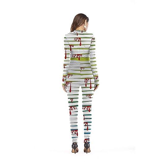 Wongfon Halloween Femmes Costume Combinaison à Manches Longues osseuse  Squelette Combinaison pour Le Festival de Partie Cosplay  Amazon.fr   Vêtements et ... 7e35495eefa