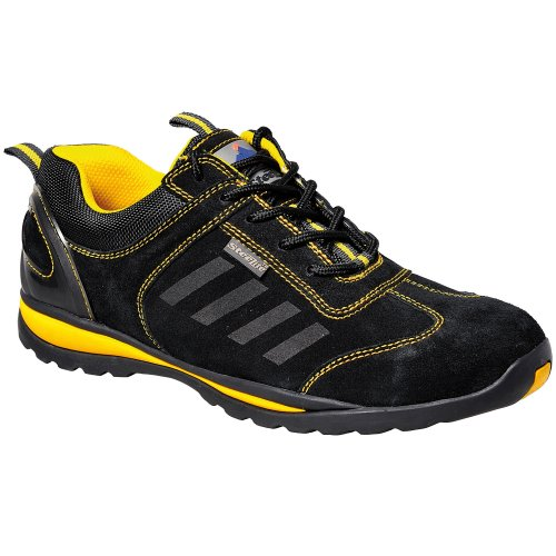 Portwest Unisex Mens Womens Steelite Toe Capped Lusun Safety Work Trainer Shoe Black