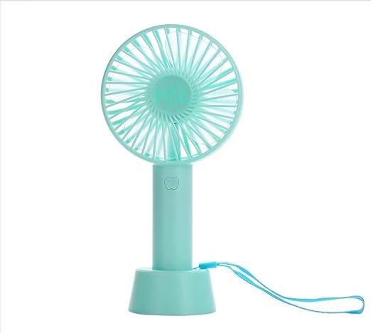 Color : Blue, Size : 1800mAh Air Cooler Small Fan USB Handheld Rechargeable Folding Fan 3 Gear Wind Personal Fan
