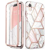 iPhone XR Case, [Scratch Resistant] i-Blason [Cosmo] Full-Body Bling Glitter Sparkle Clear Bumper Case with Built-in Screen Protector for iPhone XR 6.1 inch (2018 Release) (Marble)