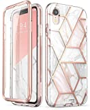 i-Blason Cosmo Full-Body Glitter Bumper Case for iPhone XR 2018 Release, Marble, 6.1""