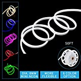 Led Mini Neon Lights, Shine Decor Rope Lights, 8MM Diameter, Update 2835 120Led/M, 110V, Included All Necessary Accessories, Flex Durable Super Bright For Outdoor Indoor Decor Or Commercial Use