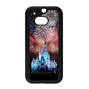 Cute Disney Castle Snap on Hard Plastic Back Case Cover for Personalized Case for HTC One M8 Case-Perfect as Christmas gift(6)