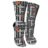 Crossword Puzzle Fashion Stylish Knee High Socks for Women and Men-Fitness Novelty Crew Athletic Socks Comfortable Knee High Sock