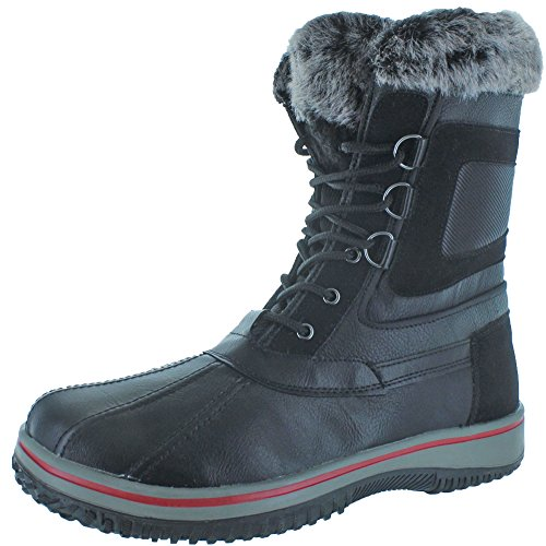 Revenant Men's Duck Toe Faux Fur Winter Snow Boots Black Size 13 (Canada Upper Duck)