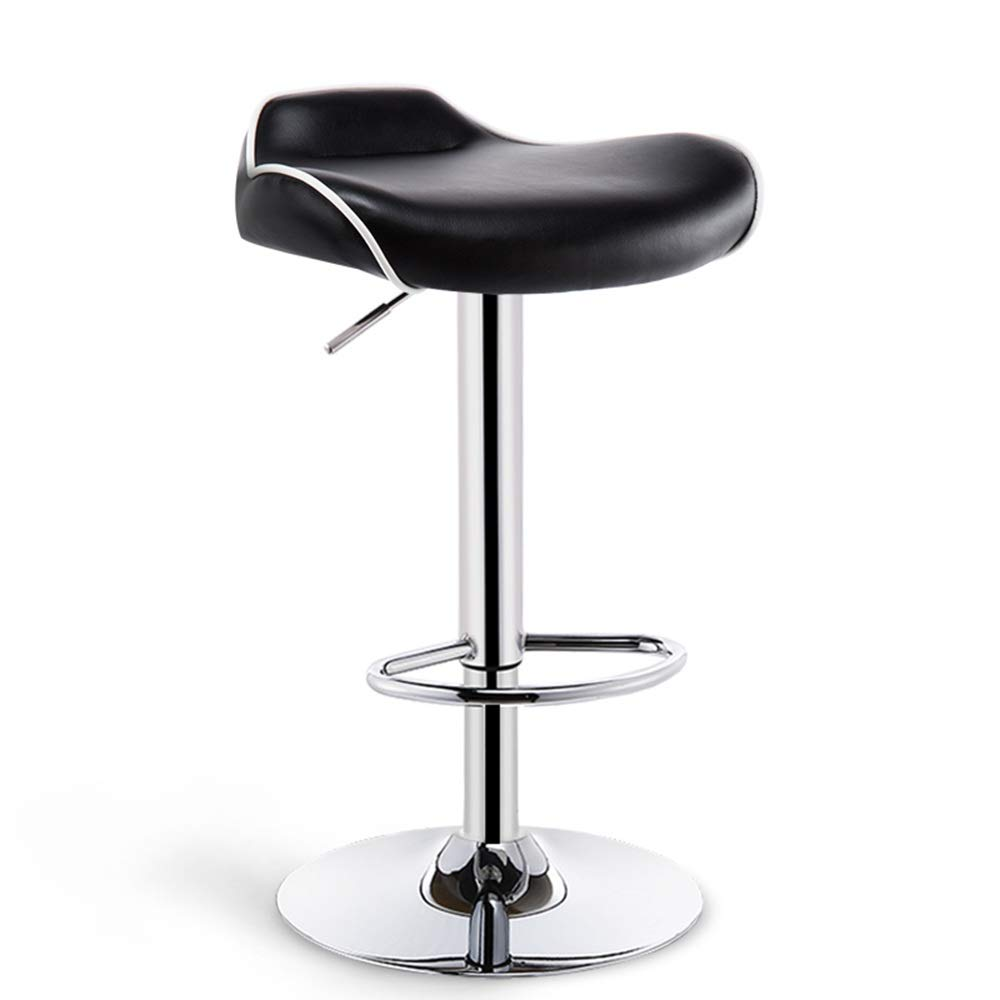 Black-High stool 41.5cm XRXY Barstool, Bar Chair, Lifting High Stool, Bar Stool, Widening Beauty Bar Stool, Kitchen Breakfast Stool, with Diameter 38.5 41.5 cm Base (color   White-High Stool, Size   38.5cm)