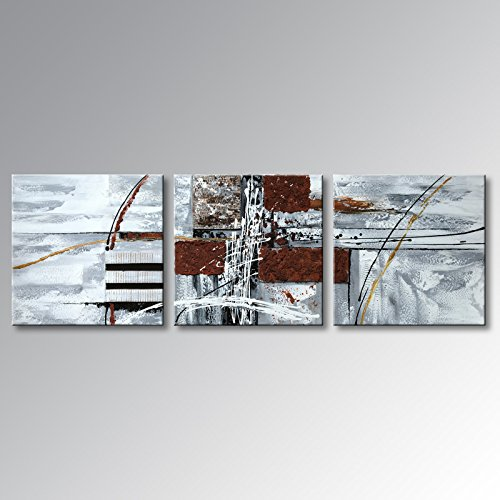 Winpeak Art Handmade Special Design Abstract Oil Painting Modern Canvas Wall Art Contemporary Acrylic Decor Picture Hanging Framed And Stretched (48