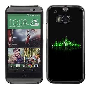 Cubierta de la caja de protección la piel dura para el HTC ONE M8 2014 - reflective grass minimalist stylized