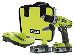 You don't need to be a DIYer to trust Ryobi. With the P1812 hammer driving kit, they've hit their mark on a power tool that is capable for both jobs around the house and on the professional construction site. The P214 hammer drill, the flagsh...