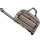 SENLI Travel Duffle Trolley bag tote Carry-On Luggage Rolling Gym bag 20 Inch