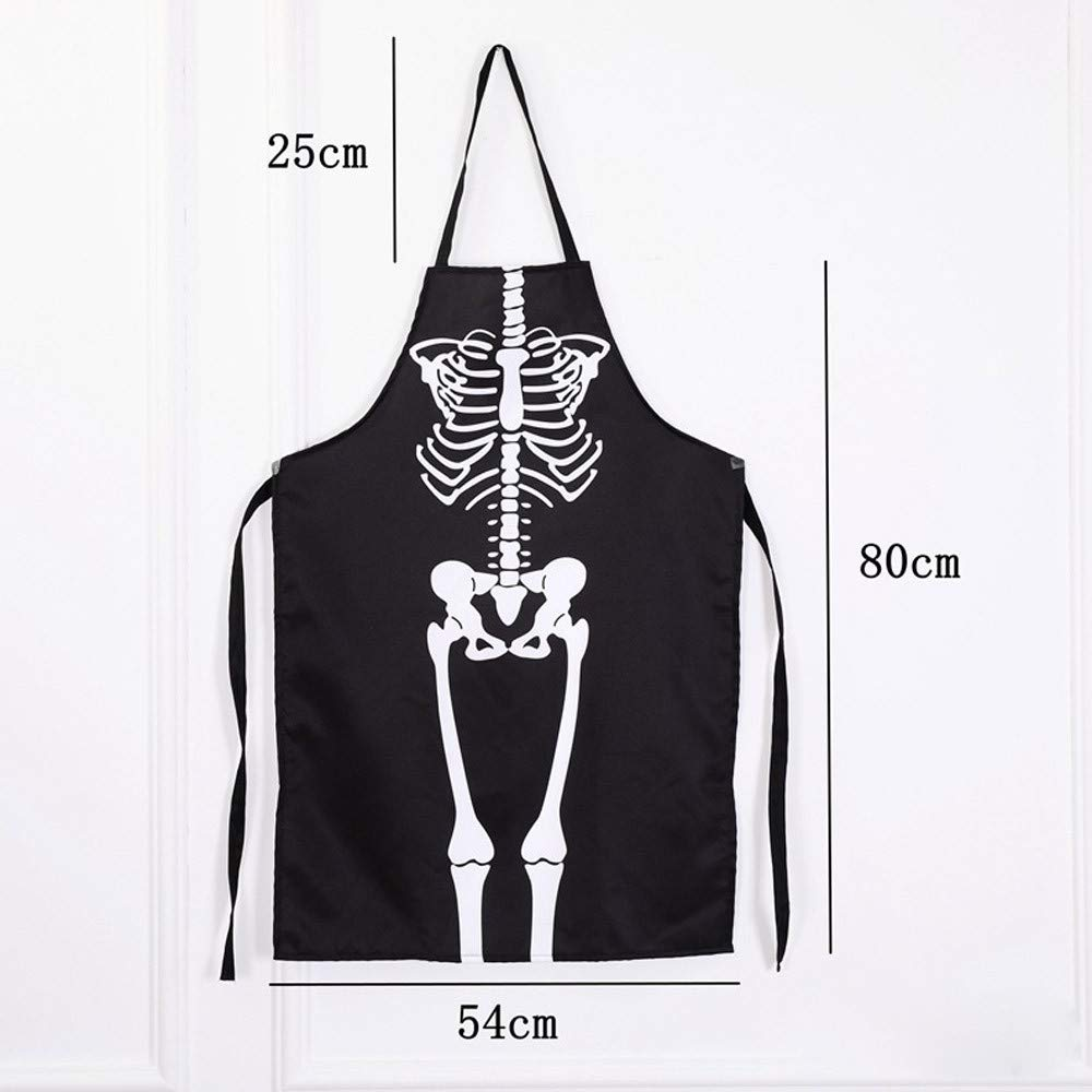 Lovewe 1PCS Kitchen Cosplay Horror Chef,Halloween Skeleton Apron Costume Party Supplies by Lovewe_Halloween Decoration (Image #6)