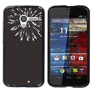 YOYOYO Smartphone Protección Defender Duro Negro Funda Imagen Diseño Carcasa Tapa Case Skin Cover Para Motorola Moto X 1 1st GEN I XT1058 XT1053 XT1052 XT1056 XT1060 XT1055 - fuegos artificiales de año nuevo blanco negro 4'th