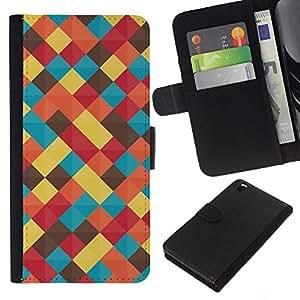 All Phone Most Case / Oferta Especial Cáscara Funda de cuero Monedero Cubierta de proteccion Caso / Wallet Case for HTC DESIRE 816 // Pastel Teal Yellow Colors Blanket